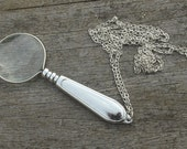 Magnifying lens on chain