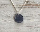 Denim Ceramic Oregon Pendant, State Jewelry, Unique Gift, Oregon, Handmade Jewelry, Ceramics, Oregon Jewelry, Ceramic Jewelry