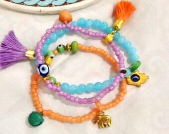 SALE----SULTANA Bracelet - Bohemian bracelet-Middle Eastern jewelry -Gypsy Jewelry