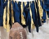 man cave NFL football team colors window treatment curtain custom made door wreath game decor ready to ship