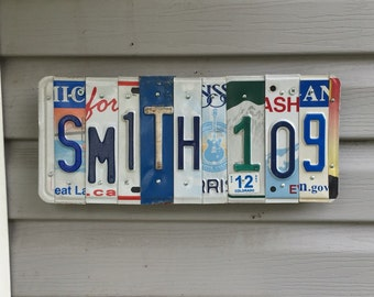 Custom license plate house address. (Price per letter)