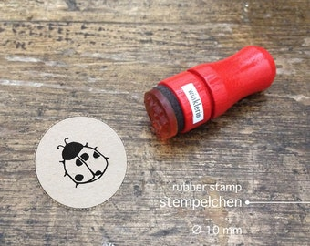 Mini Ladybug Rubber Stamp