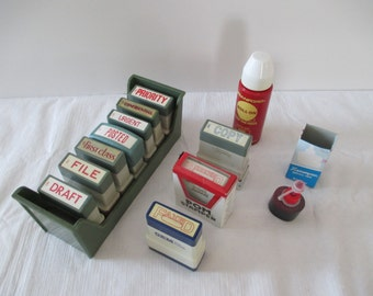 Vintage Office Stamper's - Office Stamper Lot - X-Stamper Lot