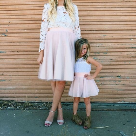 Mommy and me tulle skirt outfit matching mommy and me tutus