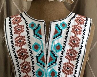 Multi Colored Stitched Applique