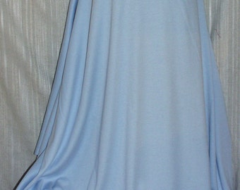 """Fabric Jersey Powder Light  Blue  Fabric By the Yard 65% Poly 35 Cotton 60"""" Wide New - Sold by the Yard"""