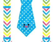 Easter Bunny Tie with Suspenders Digital Download for iron-ons,heat transfers, T-Shirts, Onesies, Bibs, Towels, Aprons, DIY YOU PRINT