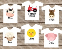 Farm Pals Down On the Farm Six Digital Downloads for iron-ons, heat transfer, Scrapbooking, Cards, Tags, DIY YOU PRINT