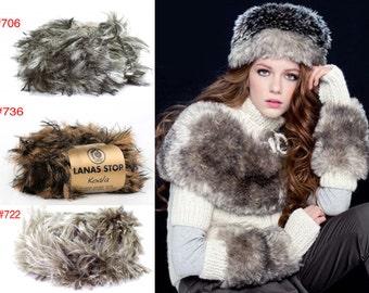 SALE 40% OFF 50g/1.76oz Koala Faux Fur Bulky yarn by Lanas Stop