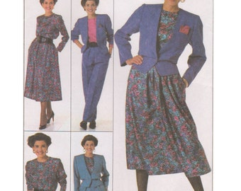 Simplicity 9255 Vintage 1980s Sewing Pattern Sizes 14/16/18/20 Go Everywhere Skirt Pants Shorts Blouse Unlined Jacket Petite