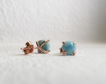 NEW Simple Everyday Earstuds - Larimar Earrings, Bridesmaids Gift, Gifts for Her