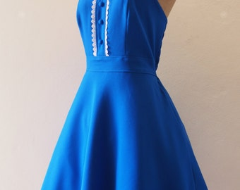 Royal Blue Bridesmaid Dress, Dress Long, Vintage Inspired Party Dress, Royal Blue Dress, Swing Skirt Dress -XS-XL,Custom