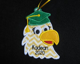 Personalized Graduation Eagle Ornament or Gift Tag