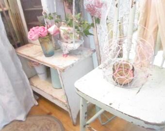 Vintage french farmhouse pink egg basket prairie french farmhouse prairie cottage