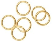 6mm Jump rings 14kt Gold Filled 20 gauge  Open Style - 25 pieces  SALE!