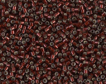MIYUKI DELICA BEAD, 11/0 Glazed Cranberry, DB1685, 5g, 10g, 15g, 20g Delica Beads
