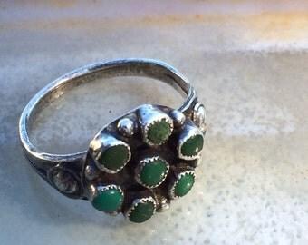 Vintage Malachite Native American ring