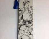 Upcycled Han Solo Comic Book Bookmark