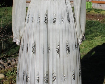 Beautiful Alfred Shaheen Vintage Pleated Maxi Dress Size 10