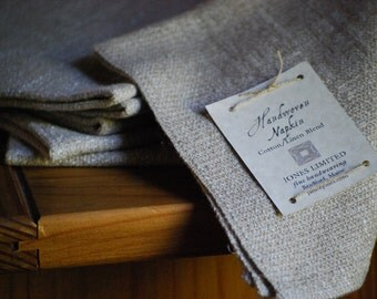 Cotton and Linen Napkins Handwoven in Maine