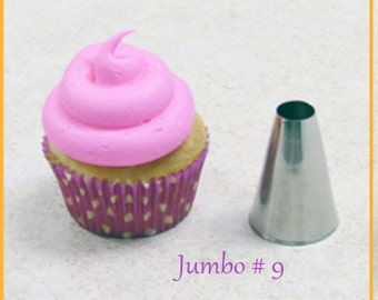 JUMBO  ROUND Pastry Tip - Extra Large Plain Icing Tip, #9  Frosting Tubes, Cupcake Decorating Pastry Tipsersized French Tip.
