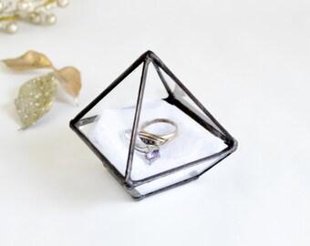 Mini Geometric Terrarium, Stained Glass Planter, Gift for Girlfriend, Gift For Her, Gift For Mom, Wedding gift, Miniature air plant holder.
