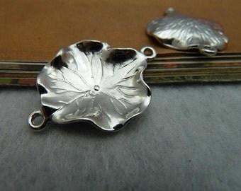 10pcs 23*30mm antique silver  lotus leaf charms pendant C2299