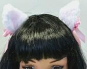 White Cat Ears- Lolita Cat Ears-Neko-Halloween-Cosplay-Cat Ears-Cat Accessories-Cat Costume