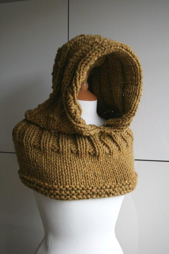 KNITTING PATTERN, Oversized hooded cowl knitting pattern ...