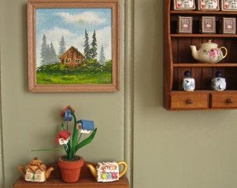Handpainted Dollhouse Painting - Landscape scene
