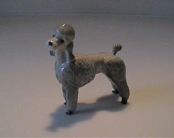 Vintage miniature Hagen Renaker gray Poodle