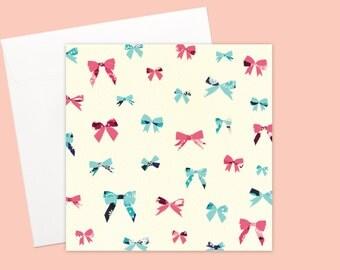 Ribbon Bows Unisex Greeting card or greeting card set