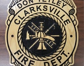 Large Fire Department Wood Plaque or Sign