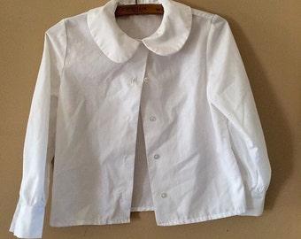 White blouse Button Down Shirt Vintage 6x
