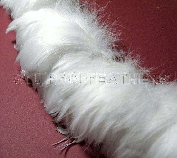 White Goose Coquille Feathers Small Curled Feathers