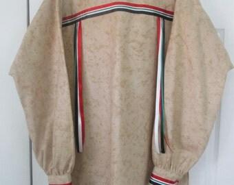 4XL ribbon shirt, native american style, desert storm veteran