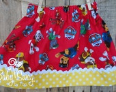 Girls Paw Patrol Skirt, Paw Patrol, Marshall, Rubble, Chase, Rocky, Skye, Zuma, Made to order 12 month, 18 month, 2t, 3t, 4t, 5t, 6,