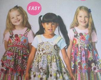 McCalls 6826  Girls Boutique Style Ruffled Clothing Pattern --Sizes 6-8 Uncut
