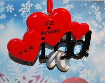 Personalized I do! Wedding Ornament