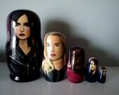 Set of Five Jessica Jones Nesting Dolls