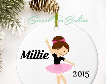Ballerina ornament, personalized Christmas ornament, custom ornament, little girl ornament, Christmas ornament, dancer ornament,