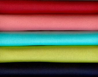 Vintage Picnic Coordinates of Bella Solids by Moda 5 Fat Quarters 100 Percent Preium Cotton Quilting Fabric