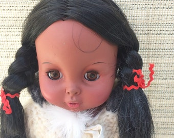 Stardoll American Indian Doll, 60s, 11-1/2""