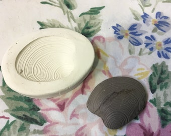 Seashell Sprig Bisque Press Mold  for Ceramic Decoration and Texture Pottery Clay Tools