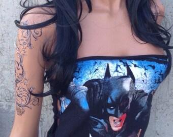 Batman Shredded Mini Dress