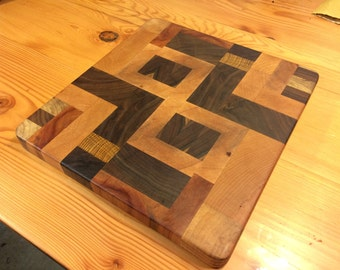 End Grain Designer Cutting Board. US shipping included.