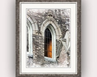 Religious Art Inspirational Gothic Church Window Century Old Historic Methodist Church Statesville North Carolina Fine Art Photography Print
