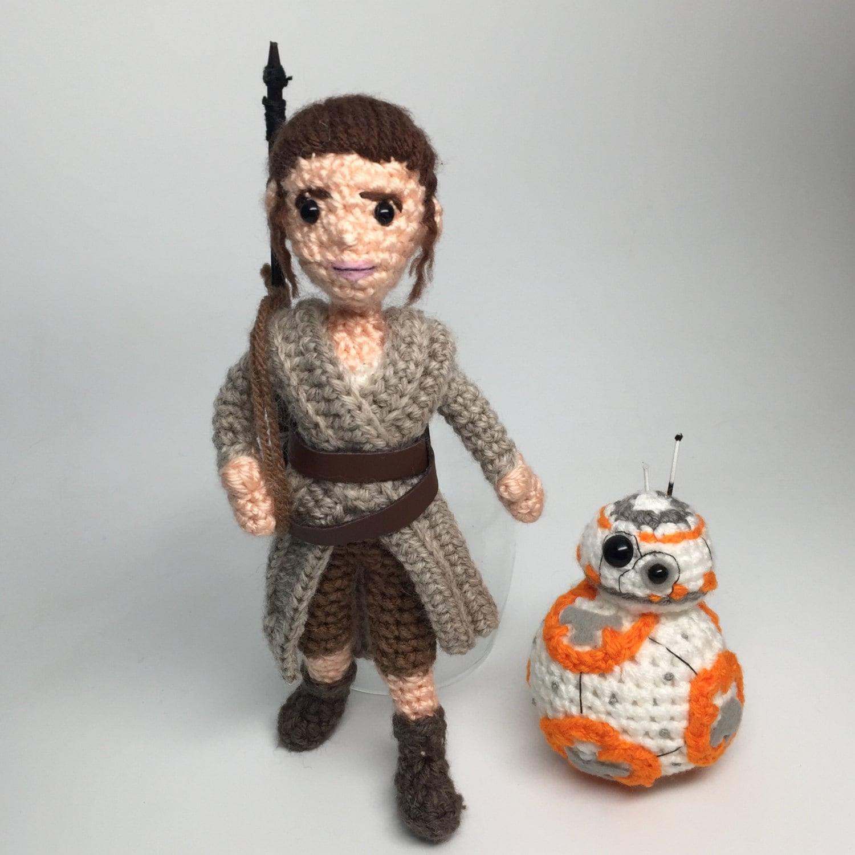 Amigurumi Sushi Pattern Free : Rey Star Wars Force Awakens Inspired Amigurumi Crochet doll