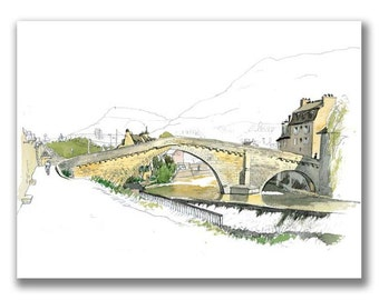Limited and signed print — Pont Notre-Dame
