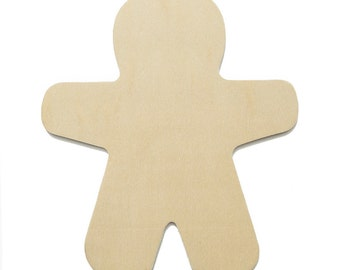25 Large Unfinished Wood Gingerbread Man Cut-Outs - 5 7/8 Inch Ready to Embellish for Holiday Crafts